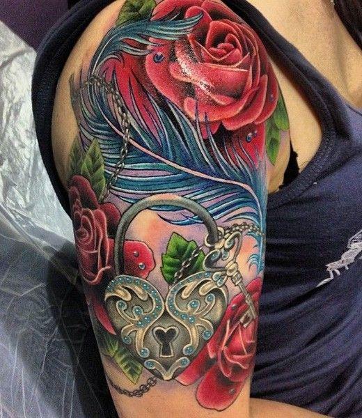 New Tattoo Ideas For Men: Stunning Lock And Key Tattoo Designs