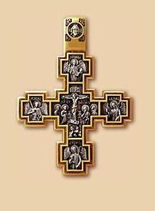 Деревянные кресты ручной работы - Изготовление и установка крестов в Москве: Крестик - Распятие. Святой Никита, побивающий беса...
