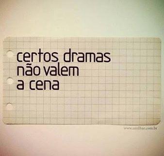 Certos dramas não valem a cena... #coracao_partido
