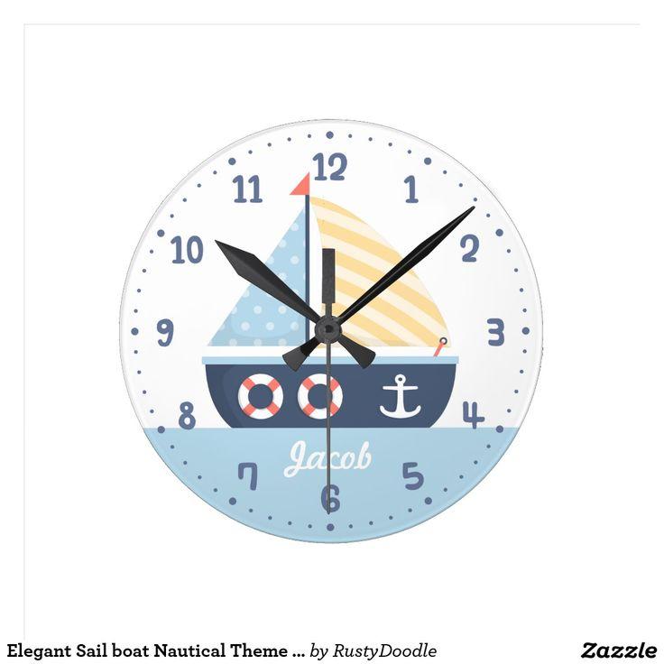 Elegant Sail boat Nautical Theme For Boys Room