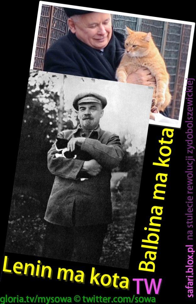 Lenin ma kota na 100-lecie rewolucji żydobolszewickiej http://safari.blox.pl/2017/11/ma-Lenina-Kaczynski-na-stulecie-rewolucji.html