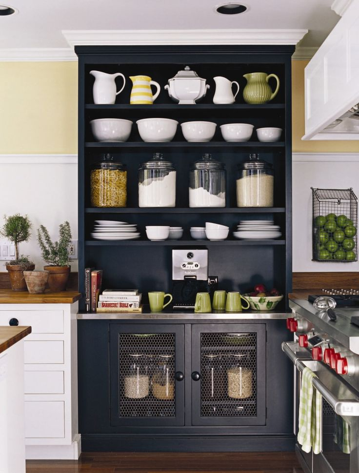 Decorating with glass canisters in the kitchen (Photo via Susan Serra) | anderson + grant