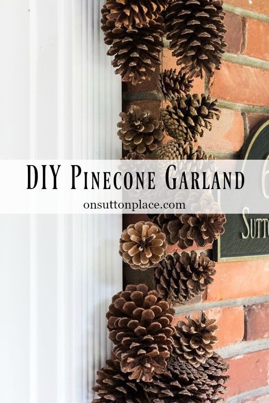 DIY Holiday Pinecone Garland Tutorial | Easy step-by-step directions for making a pinecone garland. Perfect for fall decor as well as for Christmas.