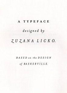 82. Mrs Eaves, Zuzana Licko (1996) — A contemporary digital interpretation of Baskerville's legendary typeface. #typography #fonts