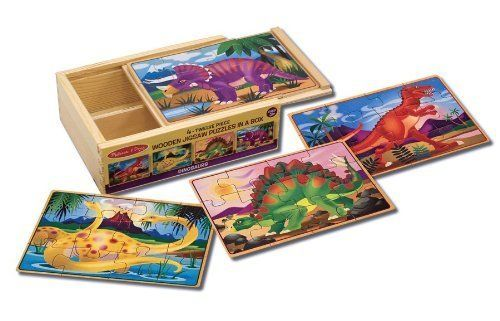 Buy Melissa & Doug - Dinosaurs Puzzles in a Box