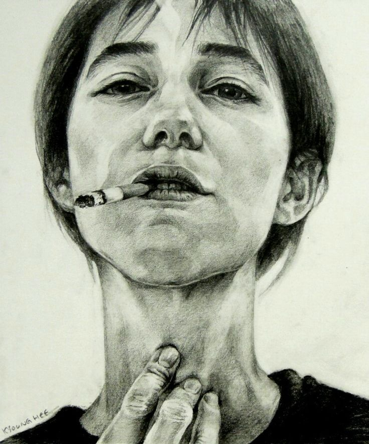 # Charlotte Gainsbourg#Lee Kyounghee#pencil