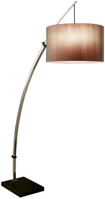 Chelsom Polished Chrome Curved Floor Lamp from Occa Home