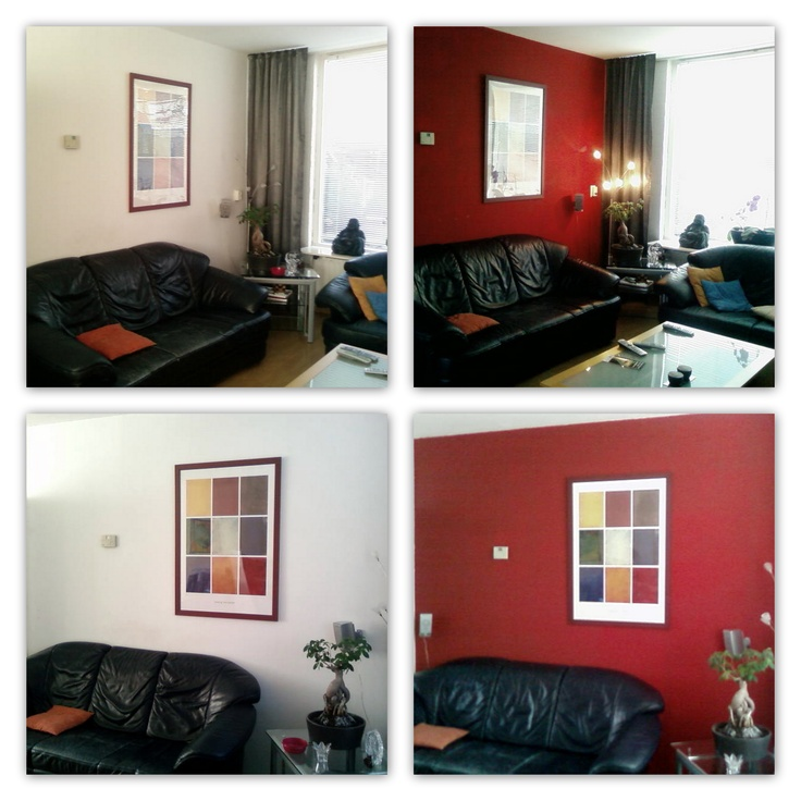 See The Transformation Of This Two Rooms Before And After They Were Painted  Red. Part 26