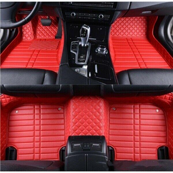 Car Floor Mats Set Of 5 Flat Mats Beautiful Leather Pu Red Black Beige Brown Ma In 2020 Car Floor Mats Leather Car Seats Beautiful Leather