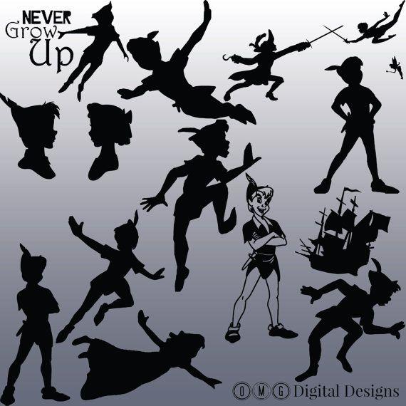 12 Peter Pan Silhouette numérique des Images par OMGDIGITALDESIGNS
