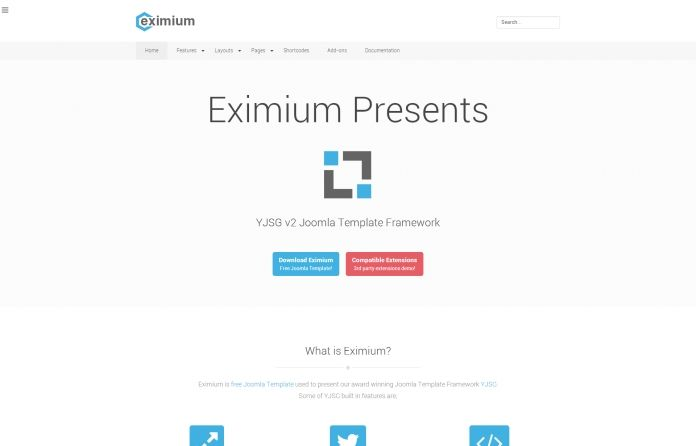 Eximium - Solid Joomla #Free #template for blogs,shops,portfolios. Engineered for every possible #website #layout, great speed and remarkable #flat design.