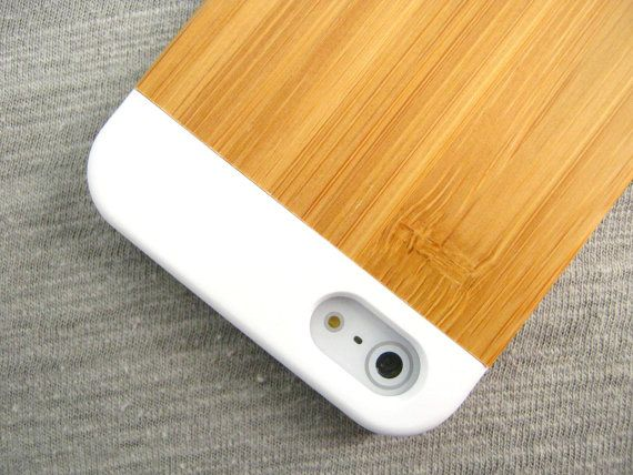 MINIMALIST HONEY BAMBOO iPHONE 5 5s Case Slim iPhone5 by NUTBOX, $19.50