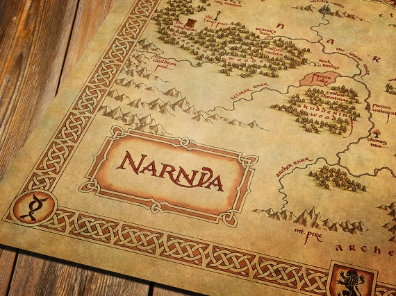 Vintage wall map of Narnia The Chronicles of by OuttakePrints, $48.90