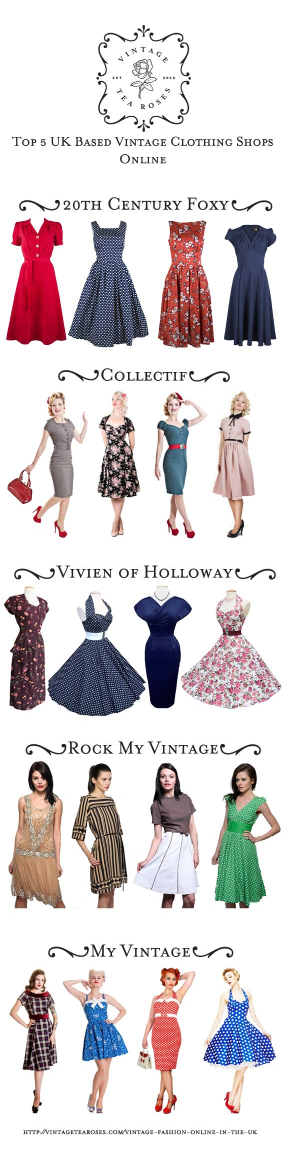 Top Vintage Clothing Shops Online in the UK http://vintagetearoses.com/vintage-fashion-online-in-the-uk/ #vintage #fashion