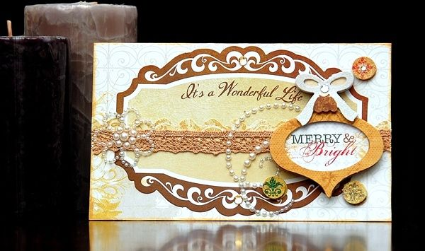Irene Tan designed this elegant card using the new Silver And Gold collection. #BoBunny, @Irene Tan