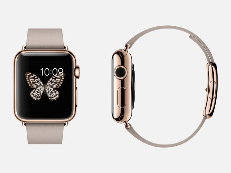 Rose Gold Apple Watch with Butterfly Display - love it!