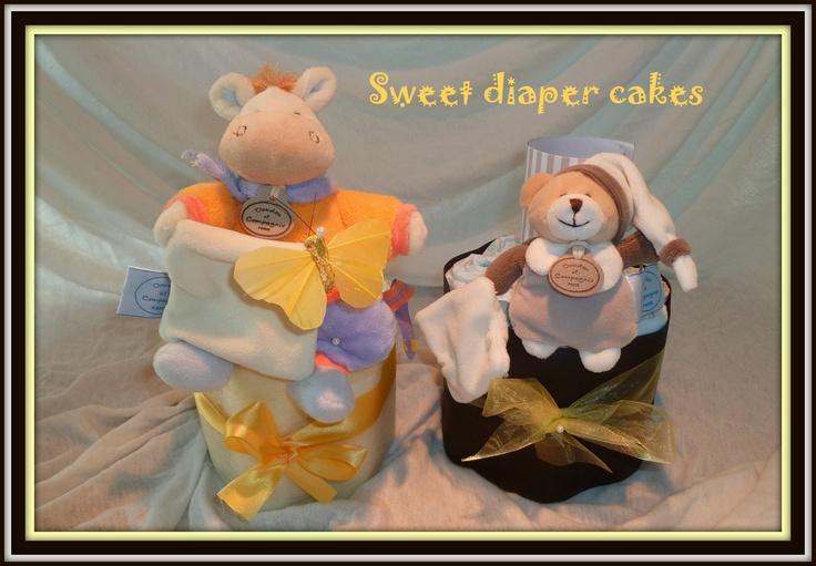 Deux mini gâteaux de couches..;o)