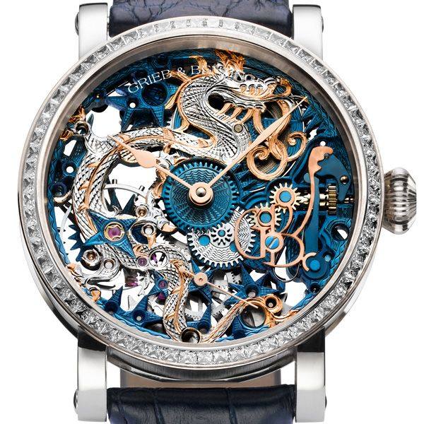 Grieb & Benzinger the Blue Dragon Imperial Special Watch Commissioned for a Chinese collector (See more at http://watchmobile7.com/articles/grieb-benzinger-blue-dragon-imperial) #watches #griebandbenz