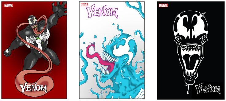 Sam Hutnyk, Digital Art Studio SCC Spring-17, Venom Comic Covers.