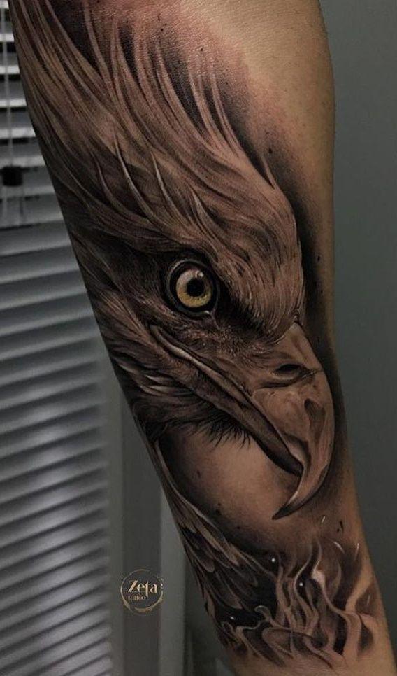 Hand Eagle Tattoo In 2020 Eagle Tattoo Eagle Tattoos Bald