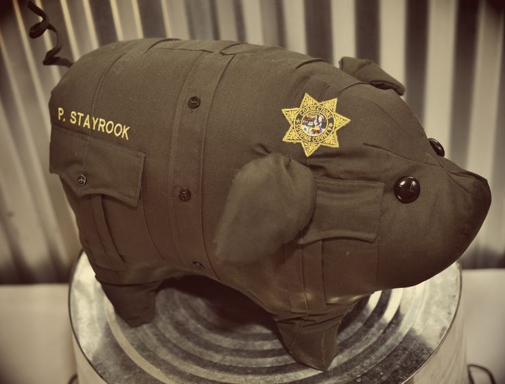 Made from law enforcement uniforms!!!!  www.pig-skin.com....oh my gosh! I need to find someone who sews!! NEEEED. ✨