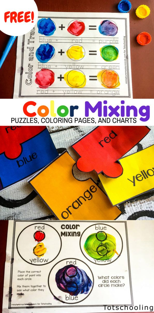 Free Printable Activities For Preschool And Kindergarten Kids To Learn About Primary And Secondary Preschool Color Activities Preschool Colors Color Activities Color mixing projects for kindergarten