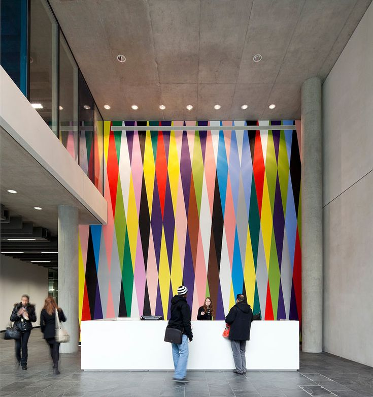 4. city of westminster college lobby. I like how the architecture here is similar to ours. Also the wall is fantastic!