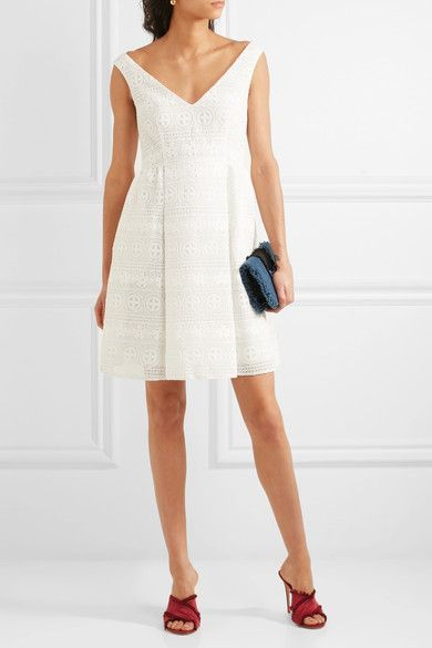 REDValentino - Crocheted Lace Mini Dress - White - IT44