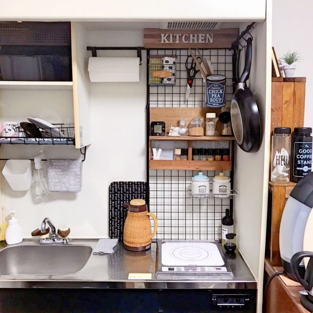 キッチン ブログも読んでくださると嬉しいです 調味料棚 ミニキッチン