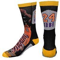 For Bare Feet NBA Sublimated Player Socks - Men's - Los Angeles Lakers - Bryant, Kobe - Black