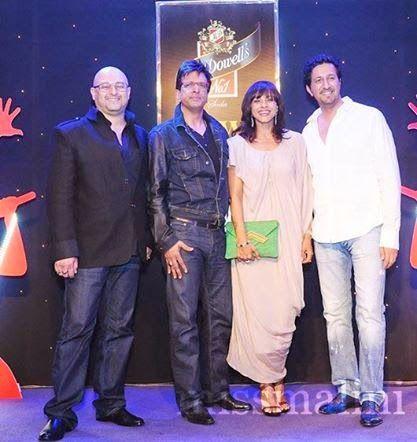 Raju Singh ,Javed Jaffrey,Manasi Scott and Sulaiman Merchant at KWC Indian Grand Finale