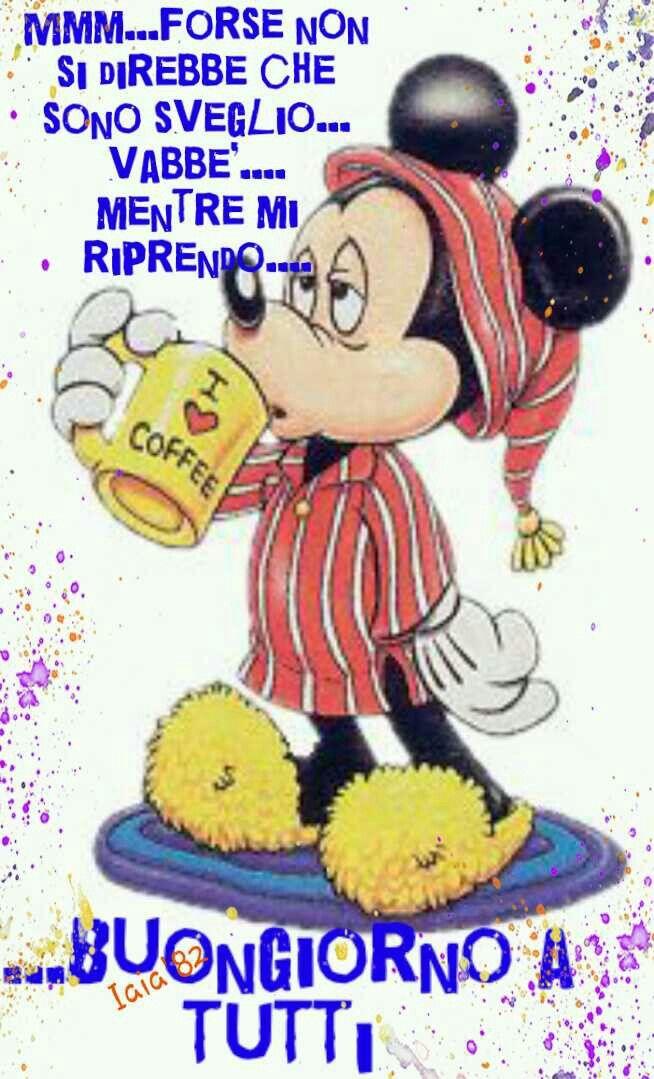 Buongiorno caffè topolino Mickey mouse