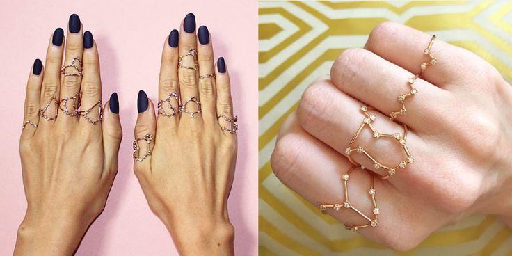 Questi anelli con le costellazioni dello zodiaco ti fanno brillare come una stella