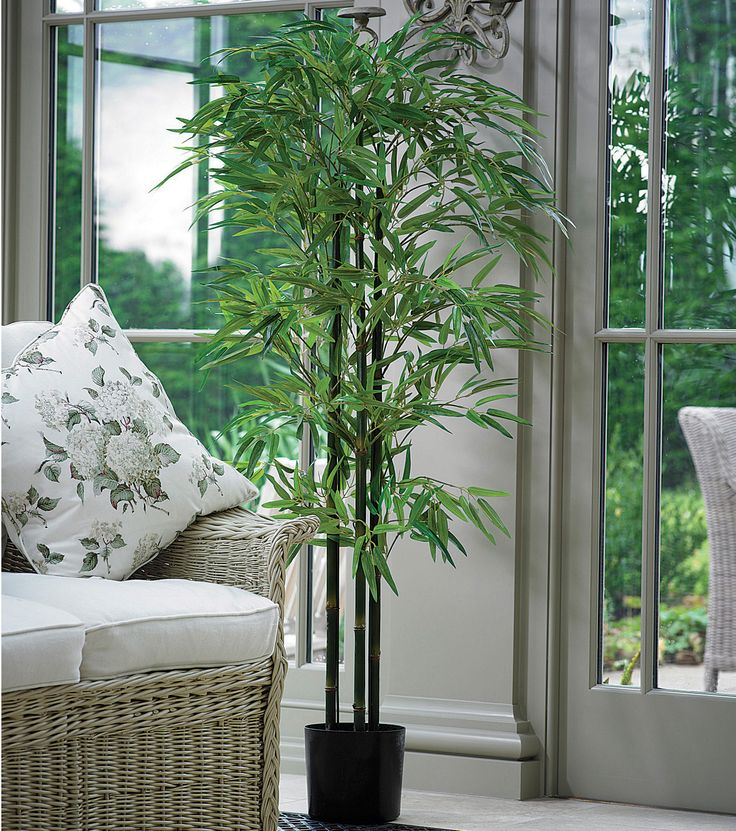 This Artificial Potted Bamboo Tree Is 5ft Tall And Ideal