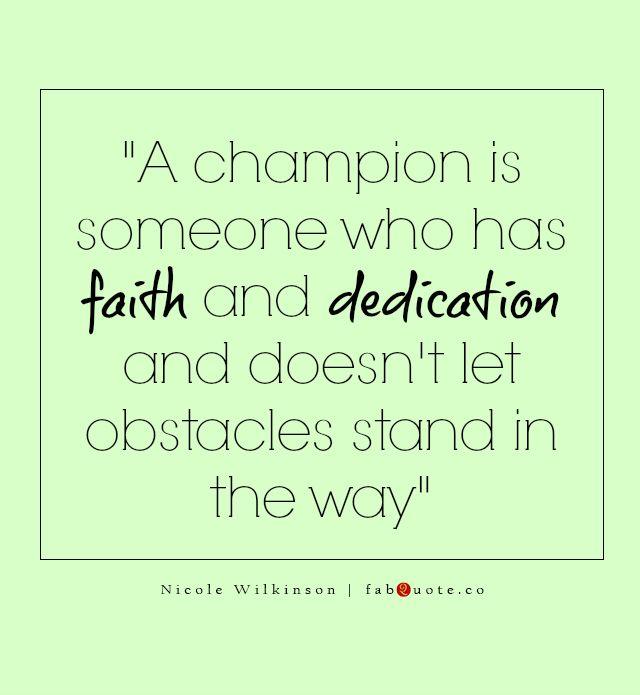 """Nicole Wilkinson """"A champion"""" Quote"""