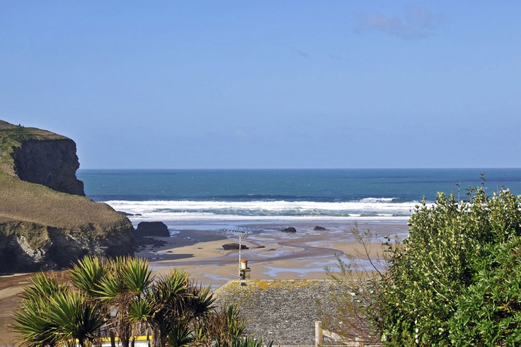 View from 7 White Lodge, Mawgan Porth