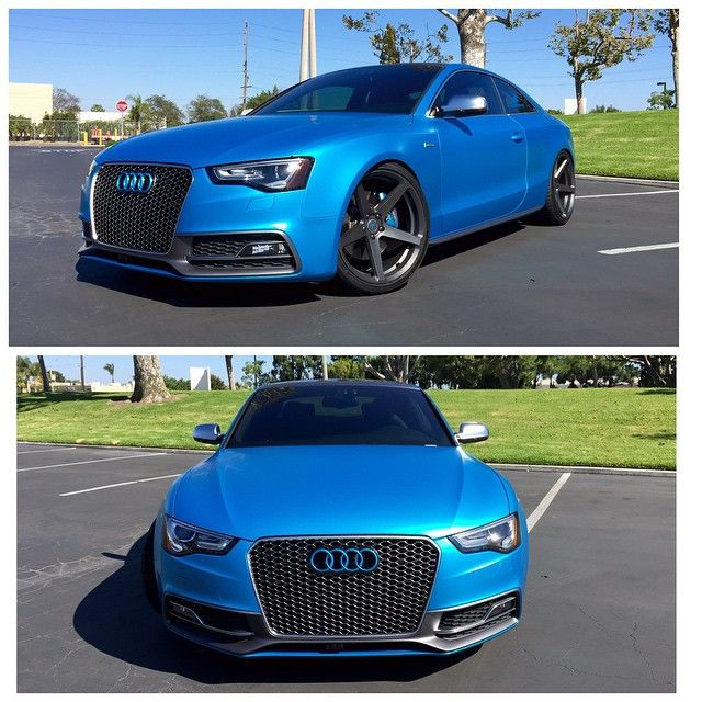 Cerulean Electric Blue Audi S5 Couldn T Resist Changing The Color And Wheels On My New 3m Satin Ocean Shimmer Wrap Wi