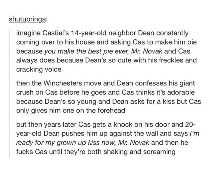 Destiel Castiel Dean Winchester Destiel AU
