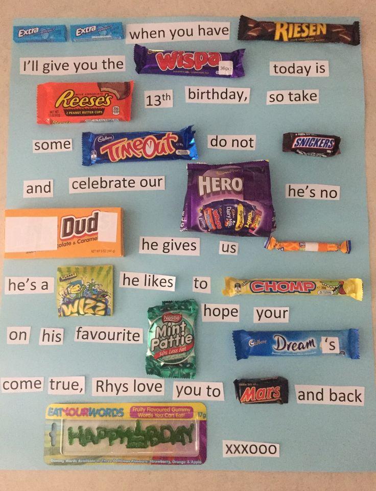 For Rhys' birthday- lolly words