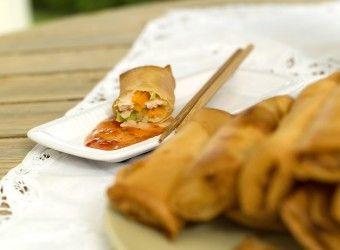 Sprø vårruller med kylling og grønnsaker | Fru Timian