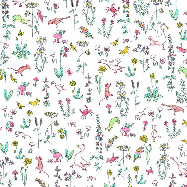 """Theo, an adorable conversational print from the new Alice in Wonderland themed Spring Summer 2015 Collection by Liberty Art Fabrics. ' """"What is a Caucus-race?"""" said Alice; not that she much wanted..."""