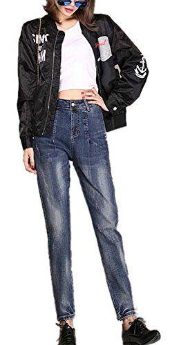 New Trending Denim: Lingswallow Women's Straight Jeans High Waist Blue Slim Stretch Trousers Pants. Special Offer: $36.79 amazon.com Measurement:26:Length:36.61 inch/93cm.Waist:26.77 inch/68cm.Hip:34.65 inch/88cm. === 27:Length:37.01 inch/94cm.Waist:27.56 inch/70cm.Hip:35.43 inch/90cm. === 28:Length:37.40 inch/95cm.Waist:28.35 inch/72cm.Hip:36.22 inch/92cm. === 29:Length:37.80...