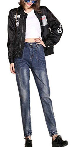 New Trending Denim: Lingswallow Women's Straight Jeans High Waist Blue Slim Stretch Trousers Pants. Special Offer: $36.79 amazon.com Measurement:26:Length:36.61 inch/93cm.Waist:26.77 inch/68cm.Hip:34.65 inch/88cm. === 27:Length:37.01 inch/94cm.Waist:27.56 inch/70cm.Hip:35.43 inch/90cm. === 28:Length:37.40 inch/95cm.Waist:28.35 inch/72cm.Hip:36.22 inch/92cm. === 29:Length:37.80...