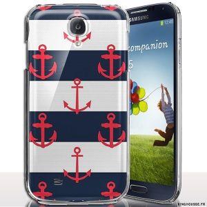 Coque arriere s4 mini Ancre Marine - Disponible en coque rigide, Housse silicone. #coque #s4 #mini #i9195 #ancre #marine #housse #silicone #case #cover