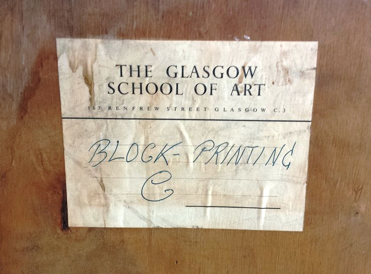 This label is found on the back of the toucan block printing display case. Archive reference: NMC/1626