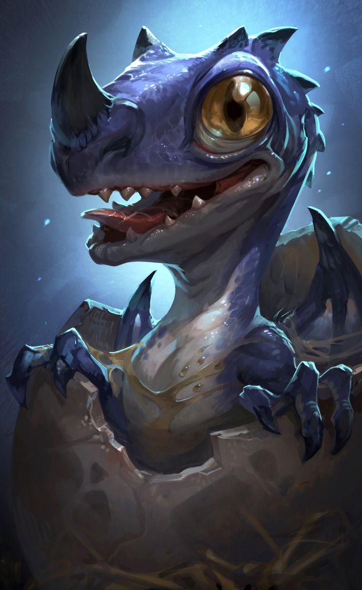 ArtStation - baby dragon, Xuexiang Zhang