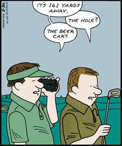 A new way to use that rangefinder. #golfhumor