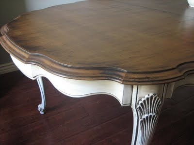 French non-formal country dining table.