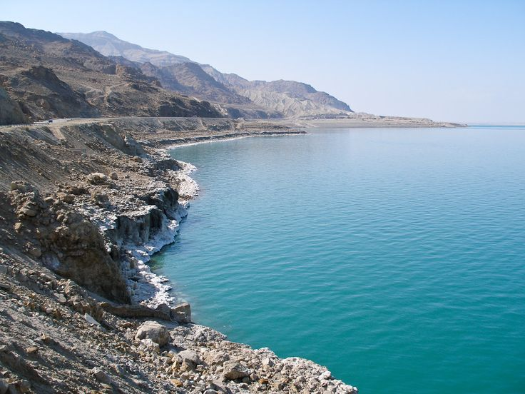 "The #Dead_Sea, ""Sea of Salt""or the ""Sea of the Arabah,"" this inland body of water is appropriately named because its high mineral content allows nothing to live in its waters."