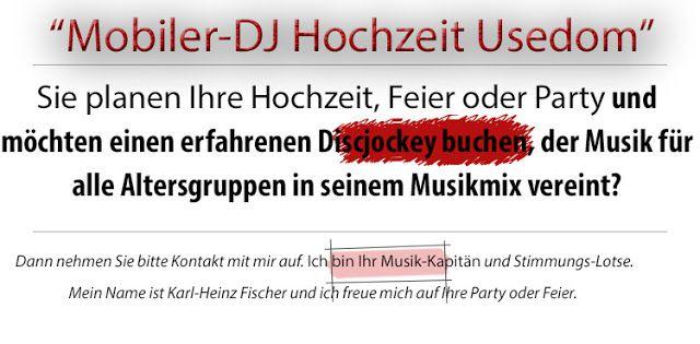 dj-hochzeit-usedom - DJ Fischer Spezial: Mobiler-DJ Usedom
